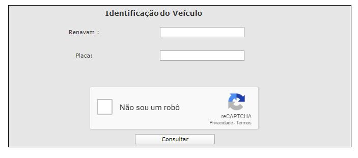 Exemplo: Consulta IPVA São Paulo